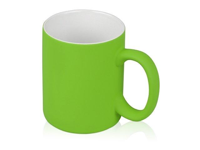 Кружка с покрытием soft-touch «Barrel of a Gum», зеленое яблоко
