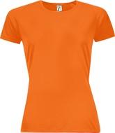 Футболка женская SPORTY WOMEN 140, оранжевый неон