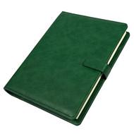 Ежедневник недатированный Coach, B5, зеленый, кремовый блок, подарочная коробка