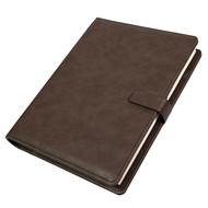 Ежедневник недатированный Coach, B5, коричневый, кремовый блок, подарочная коробка