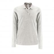 Рубашка поло женская с длинным рукавом PERFECT LSL WOMEN, светло-серый меланж