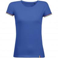 Футболка женская Rainbow Women, ярко-синяя с ярко-зеленым