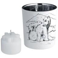 Подсвечник со свечой Forest, с изображением медведя
