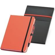 Набор: блокнот Advance с ручкой, красный с черным