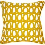 Чехол на подушку Twirl, квадратный, горчичный