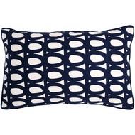 Чехол на подушку Twirl, прямоугольный, темно-синий