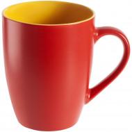 Кружка Bright Tulip, матовая, красная с желтым