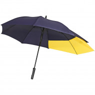 Зонт-трость Fiber Move AC, темно-синий с желтым