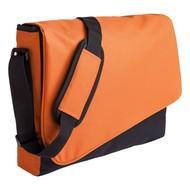 Конференц сумка Unit Messenger, оранжево-черная