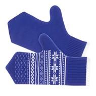 Варежки «Скандик», синие (василек)