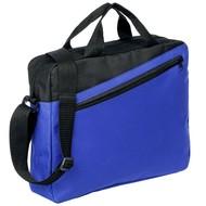 Конференц-сумка Unit Diagonal, сине-черная