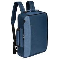 Рюкзак для ноутбука 2 в 1 twoFold, синий с темно-синим