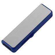 Флешка Ferrum, серебристая с синим, 8 Гб