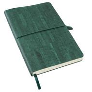 Ежедневник недатированный Woody, А5,  темно-зеленый, кремовый блок, без обреза