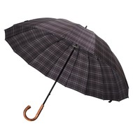 Зонт-трость Big Boss, серый в клетку