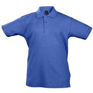 Рубашка поло детская Summer II Kids 170, ярко-синяя