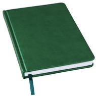 Ежедневник недатированный Bliss, А5,  темно-зеленый, белый блок, без обреза