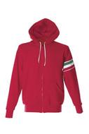 VERONA Толстовка Италия с капюшоном, на молнии, красный