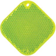 Светоотражатель «Квадрат», неон-желтый