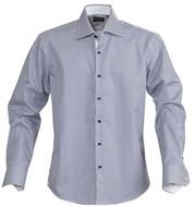 Рубашка мужская в полоску RENO, темно-синяя