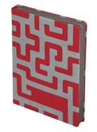 Ежедневник Labyrinth, недатированный, красный