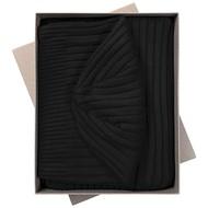 Набор Stripes: шарф и шапка, черный