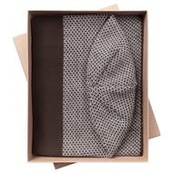 Набор Urban: шарф и шапка, коричнево-белый