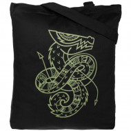 Холщовая сумка «Полинезийский дракон», черная