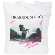Холщовая сумка «Храброе сердце», молочно-белая