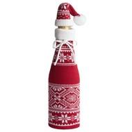 Чехол для шампанского «Скандик» с колпачком, красный