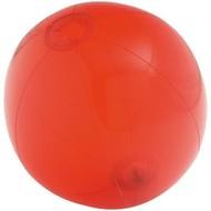Надувной пляжный мяч Sun and Fun, полупрозрачный красный