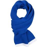 Шарф Amuse, синий с белым