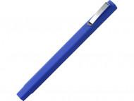 """Ручка шариковая пластиковая """"Quadro Soft"""", квадратный корпус с покрытием софт-тач, синий"""