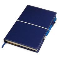 "Бизнес-блокнот ""BUSINESS"", 130*210 мм, синий,  обложка портфолио,  блок-линейка, тиснение"