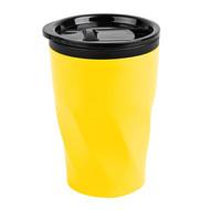 """Термокружка  """"Neon"""";  350 мл; желтый; металл/пластик"""