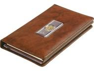Записная книжка с визитницей «Голова льва» Luigi Pesaresi, коричневый