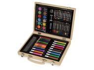Набор для рисования из 67 предметов в чемодане с рисунком