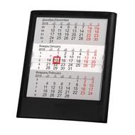 Календарь настольный на 2 года ; черный; 12,5х16 см; пластик; тампопечать, шелкография
