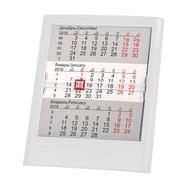 Календарь настольный на 2 года ; белый; 12 х16 см; пластик; тампопечать, шелкография