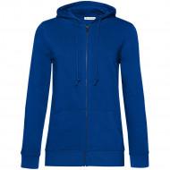 Толстовка на молнии с капюшоном женская BNC Organic, ярко-синяя