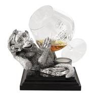 Коньячница «Обезьяна» с серебряным декором