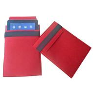 Чехол для iPad из войлока, красный с черным