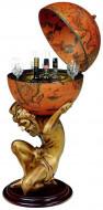 Глобус-бар «Атлант», терракотовый